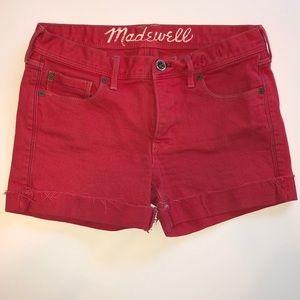 Madewell l Red Denim Shorts l Size 27